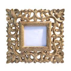 Hand Carved Wooden Photo Frame