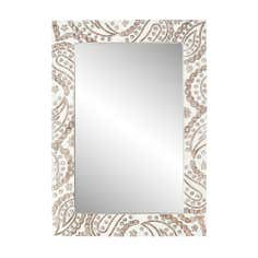 White Wash Wooden Mirror