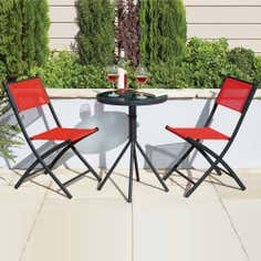 Red Tropical Two Seat Bistro Set
