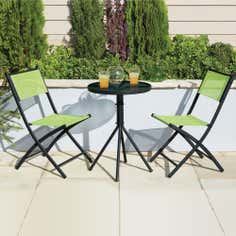 Lime Tropical Two Seat Bistro Set