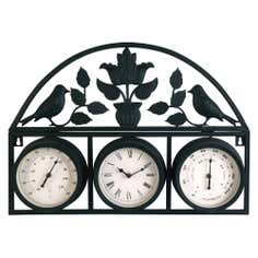 Outdoor Wall Clock Weather Station