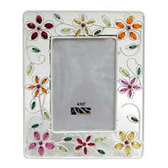 Hibiscus Wire Photo Frame