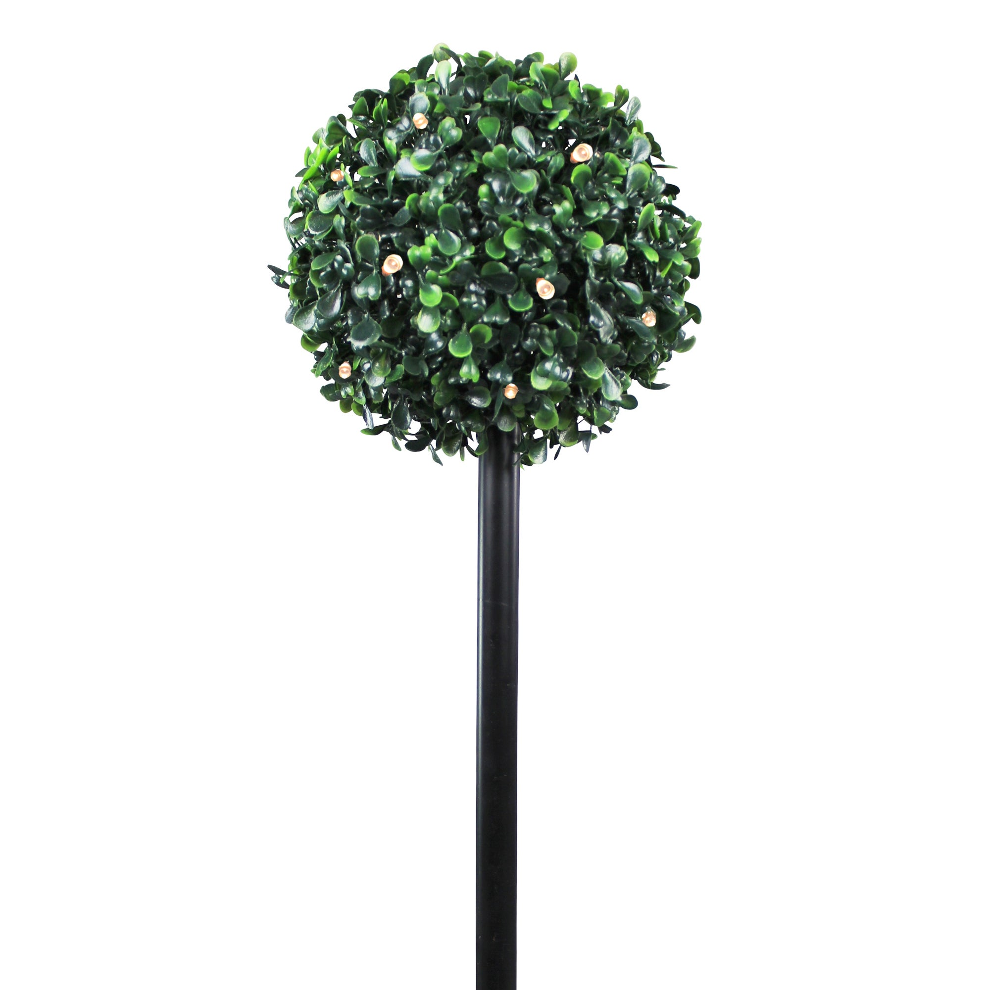 Topiary Ball Stake Solar 12 LED Light