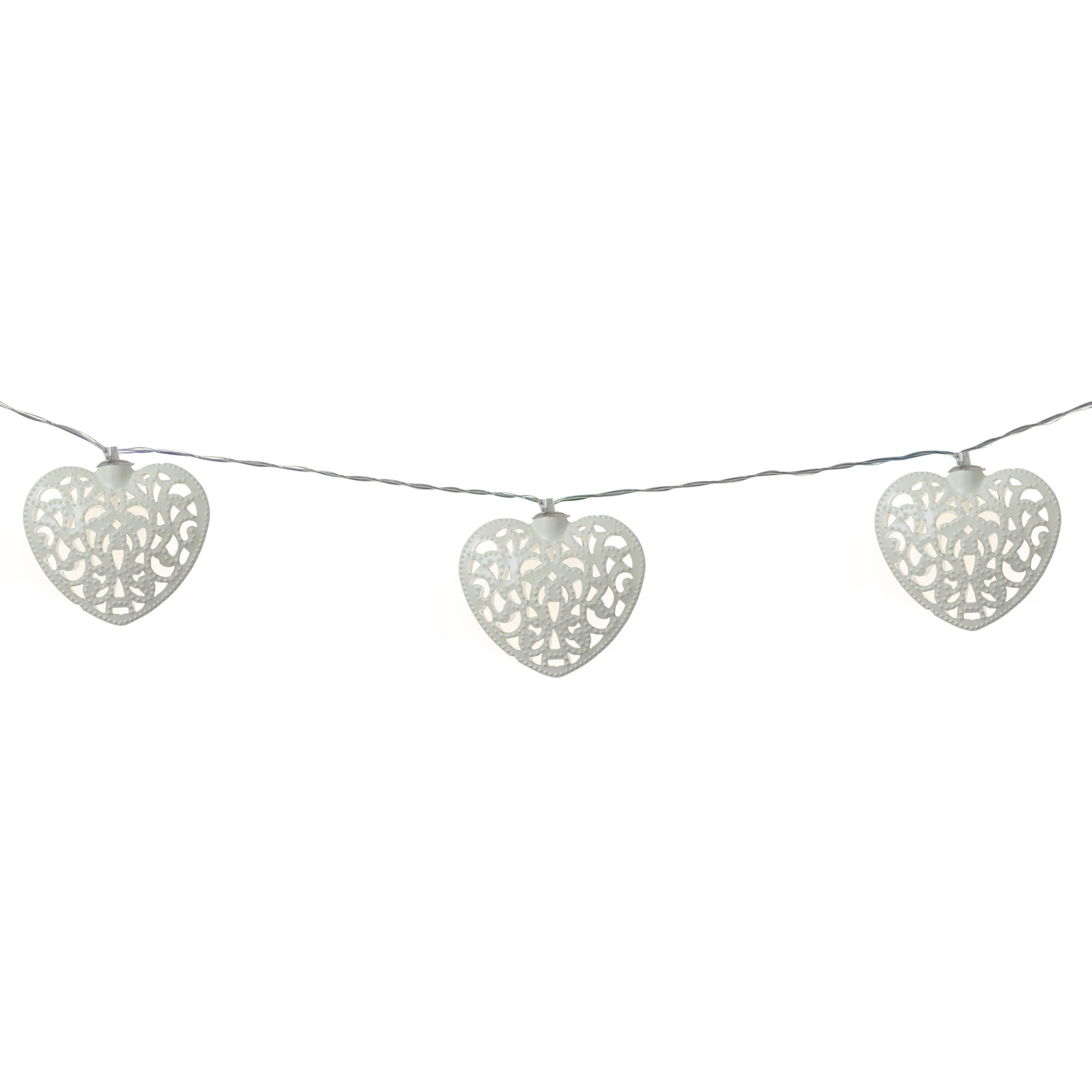Heart Solar 10 LED Chain Lights