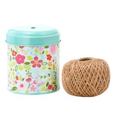 Floral Collection Twine Tin