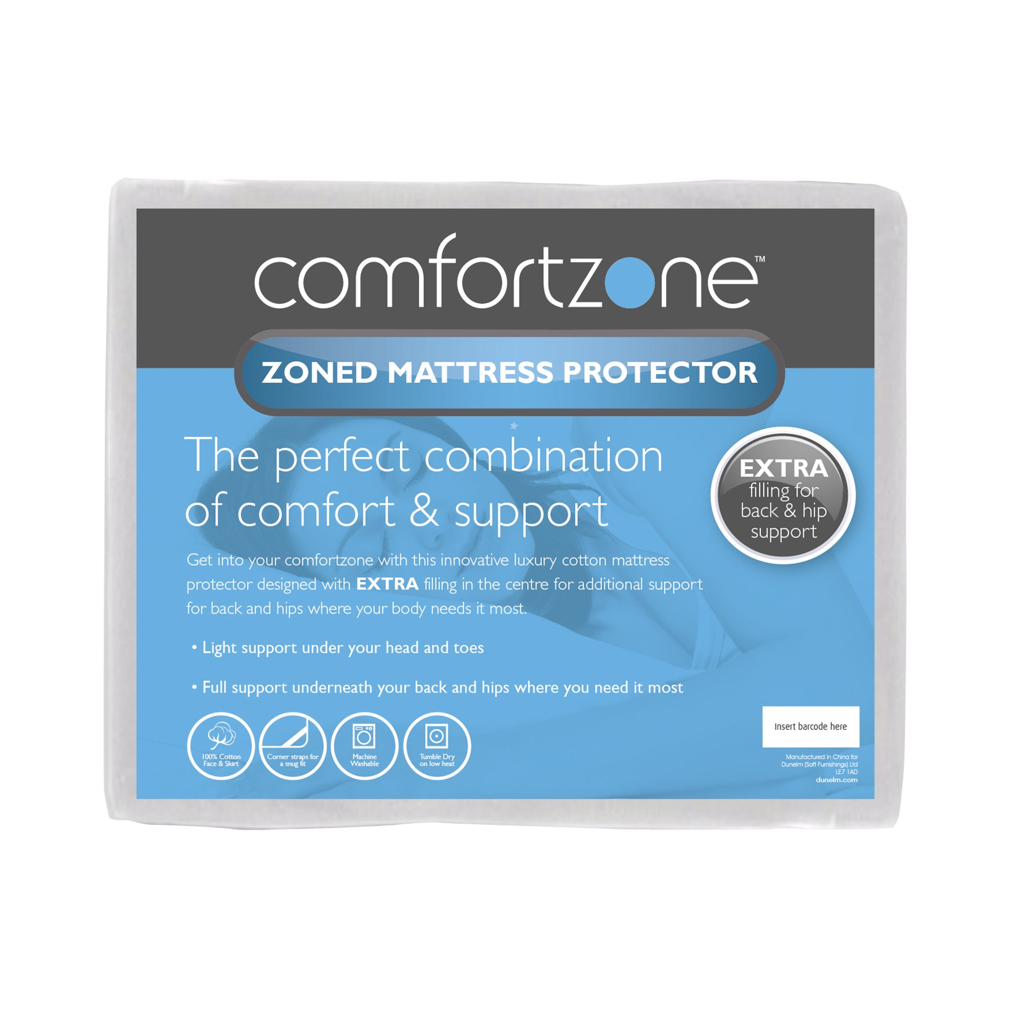 Comfortzone Zoned Mattress Protector