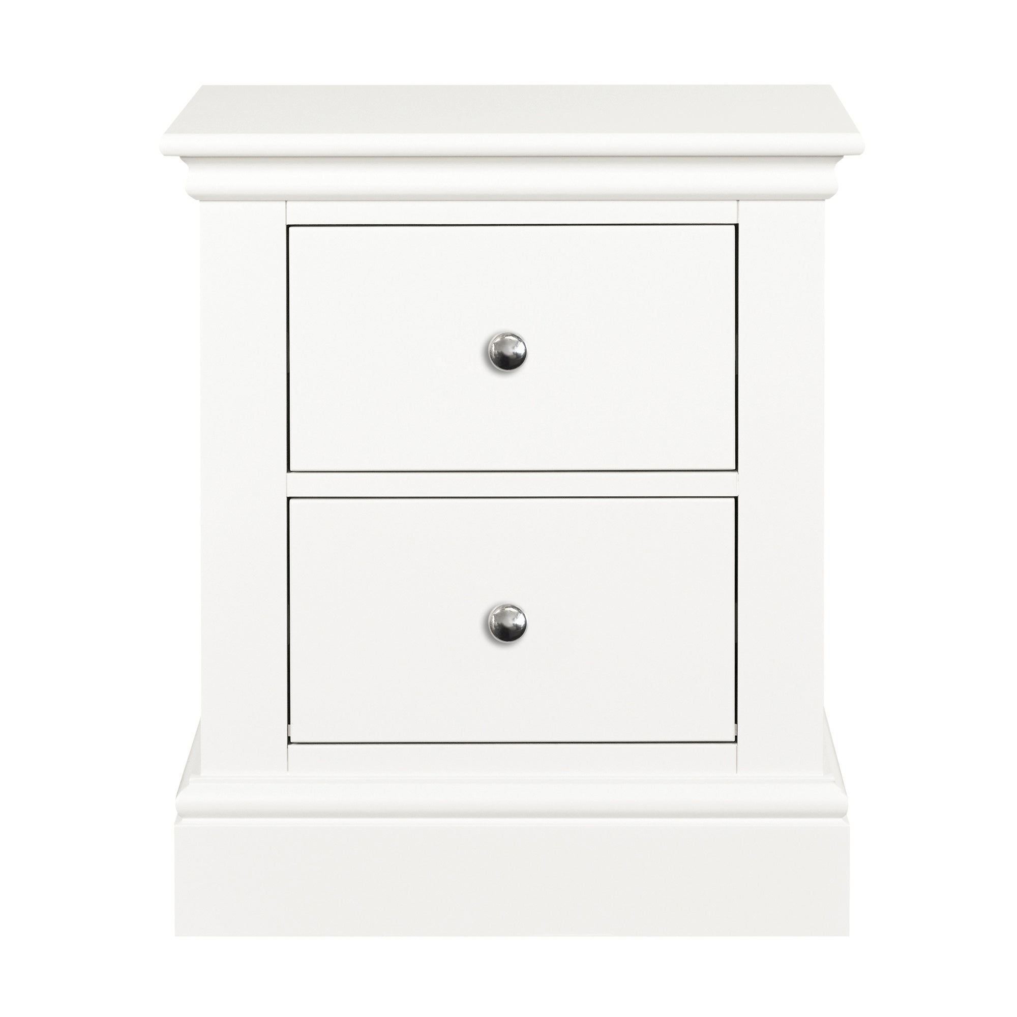 Blakely White 2 Drawer Bedside Table