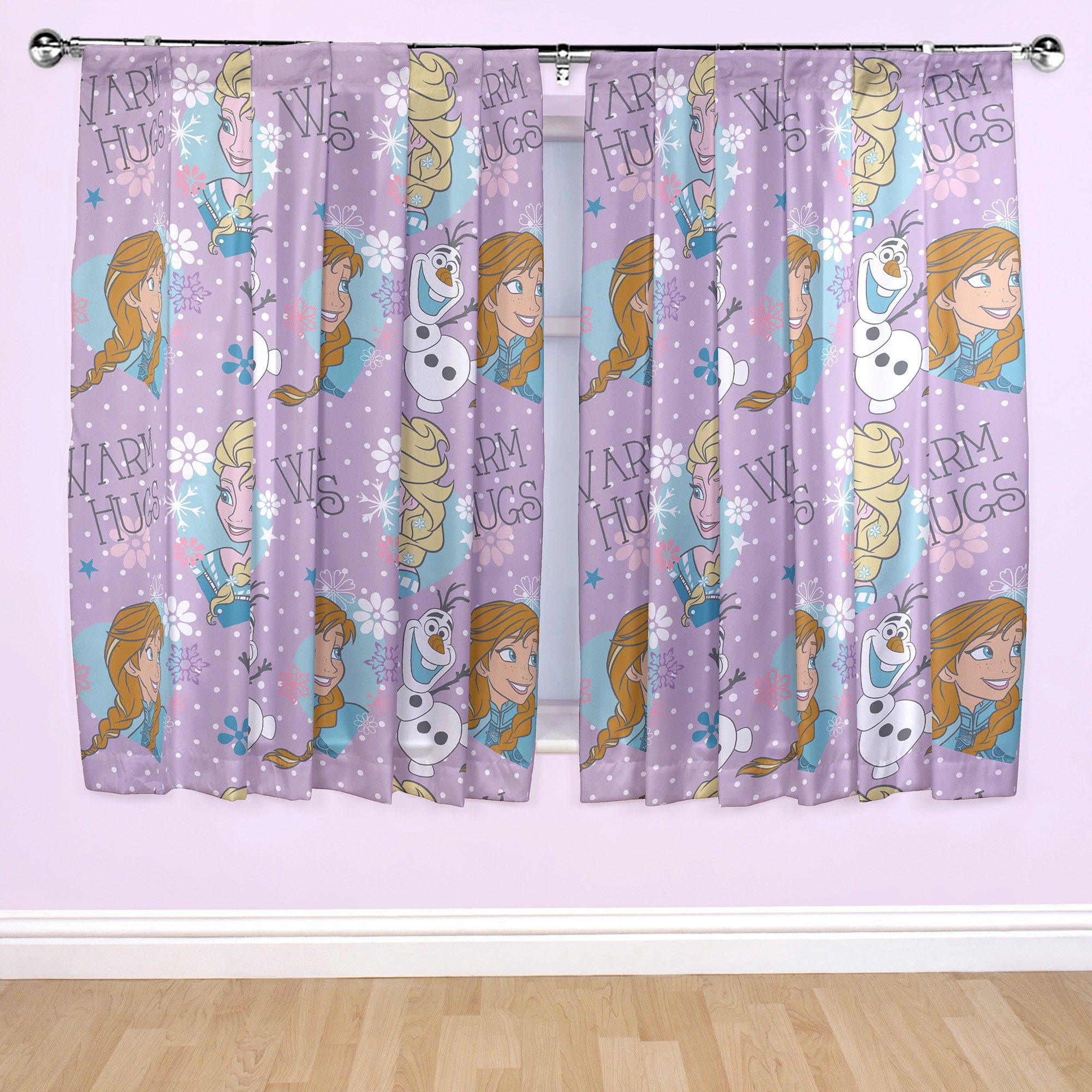 Kids Disney Frozen Pencil Pleat Curtains