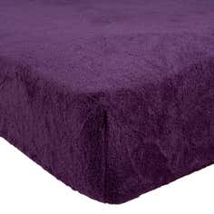 Teddy Bear Plum Super Soft Fitted Sheet