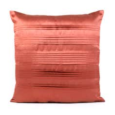 Pleated Faux Silk Square Cushion