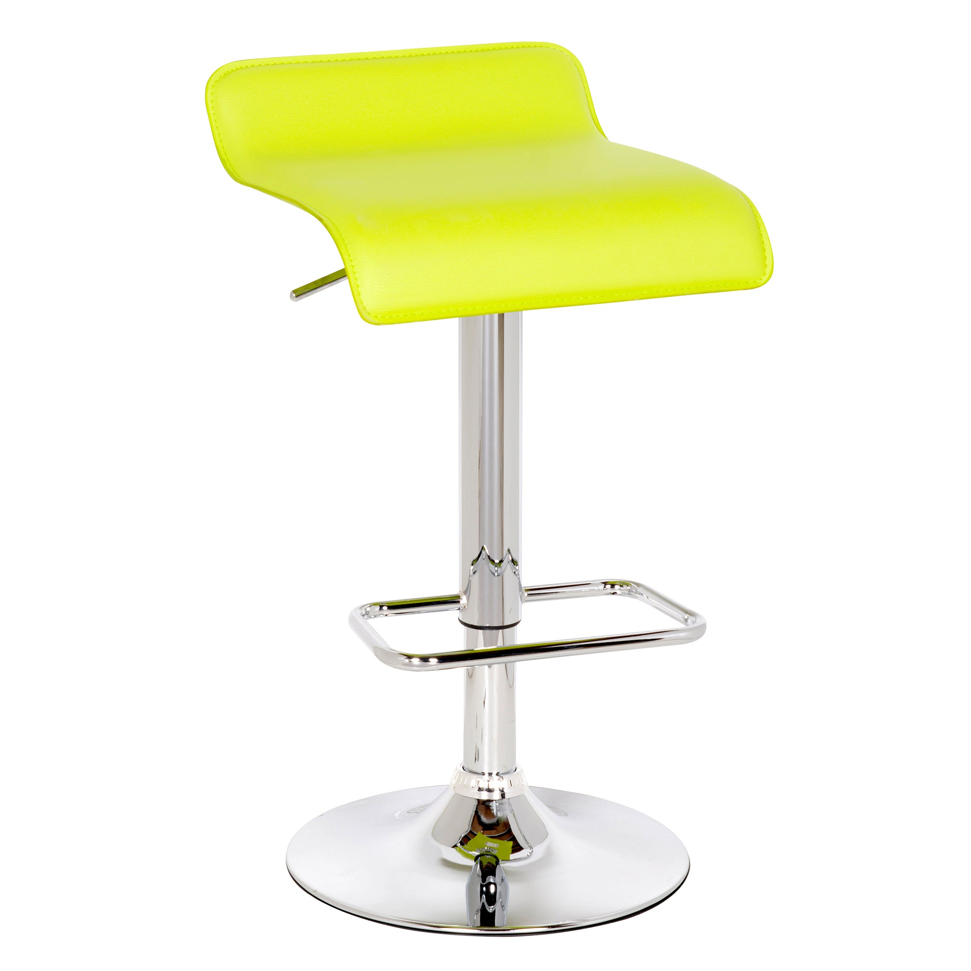 Fusion Faux Leather Upholstered Gas Lift Bar Stool