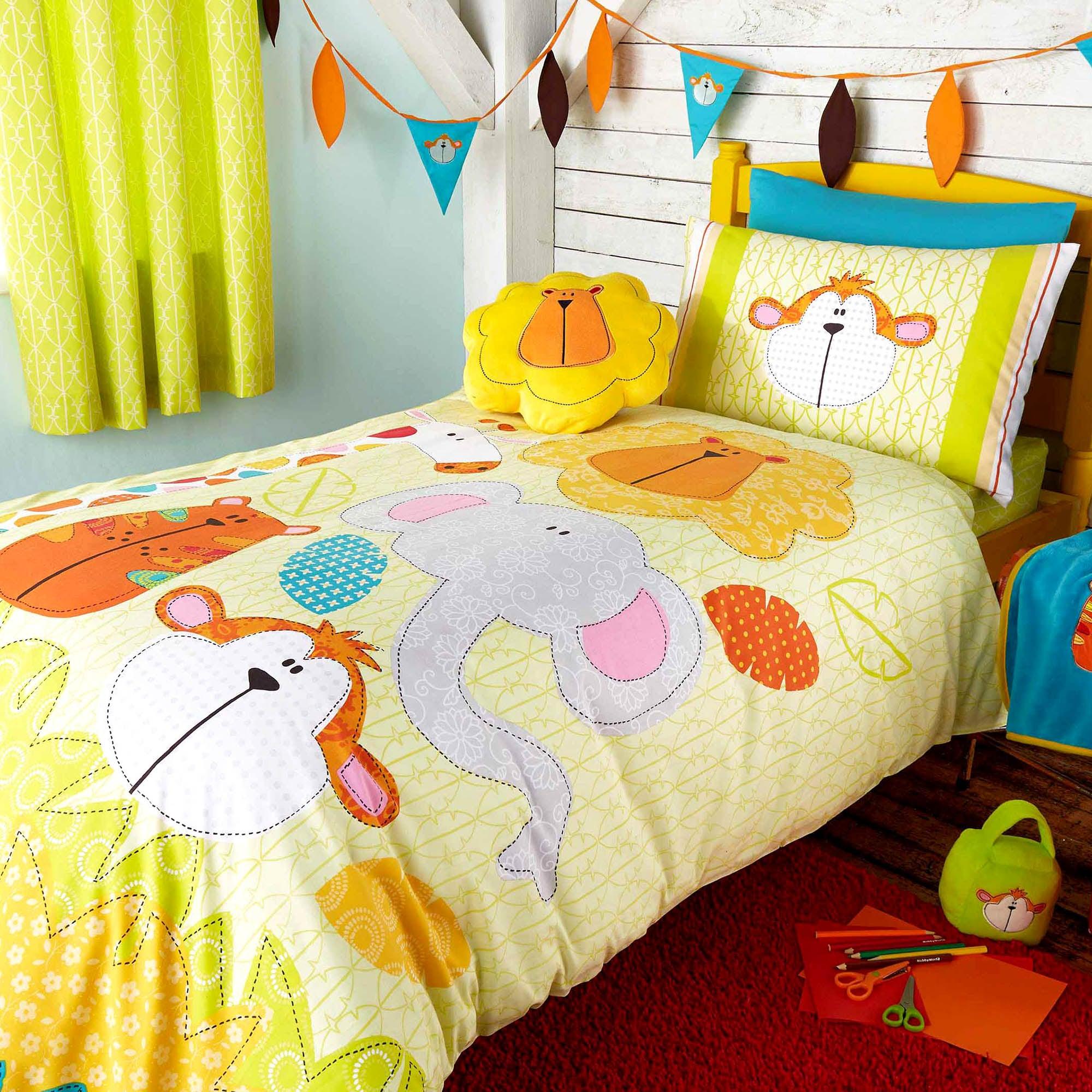 Kids Safari Friends Collection Junior Duvet Set