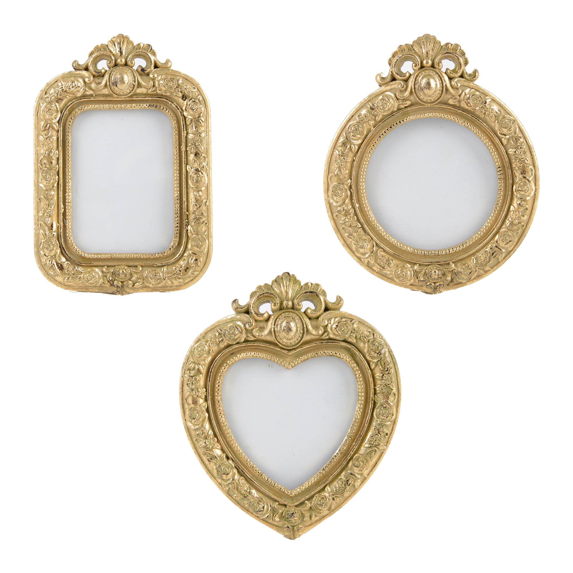 Gold Ornate Collection Set of 3 Mini Photo Frames
