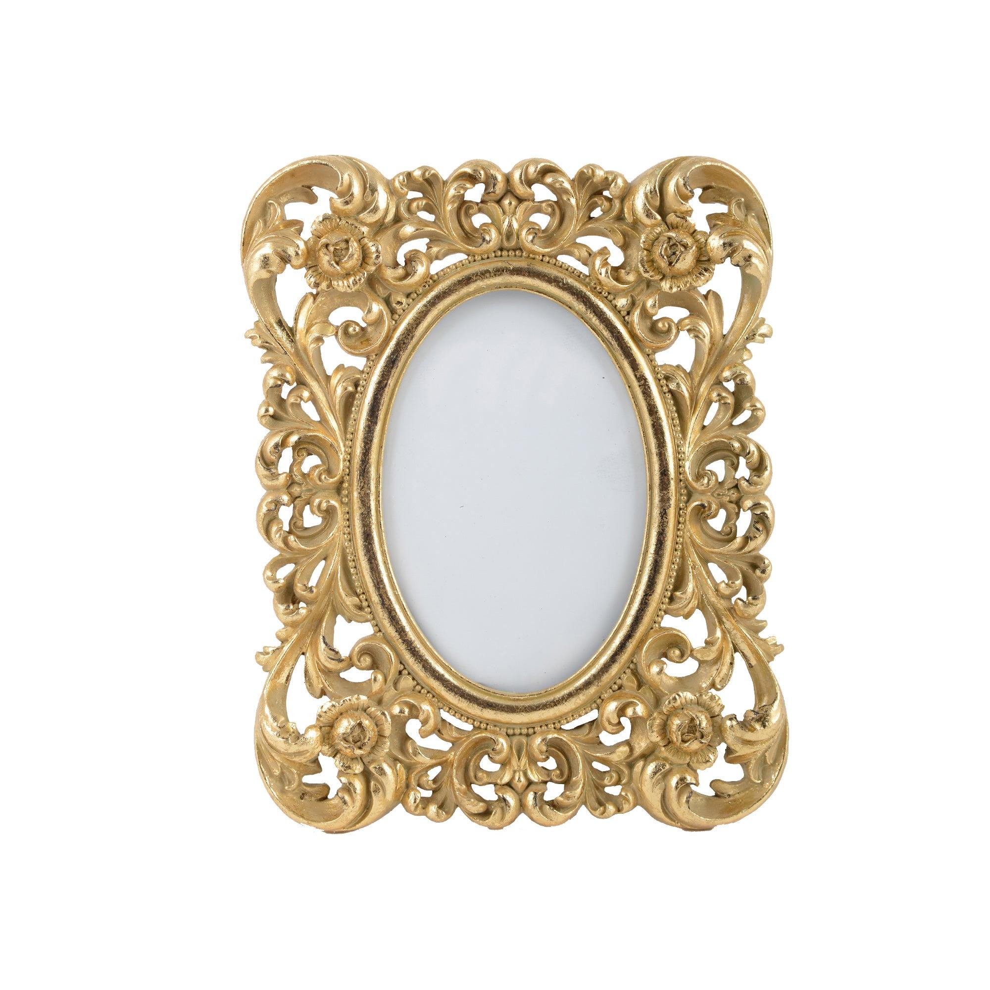 Ornate Resin Photo Frame 4x6 Gold