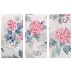 Bloom Triptych Printed Canvas