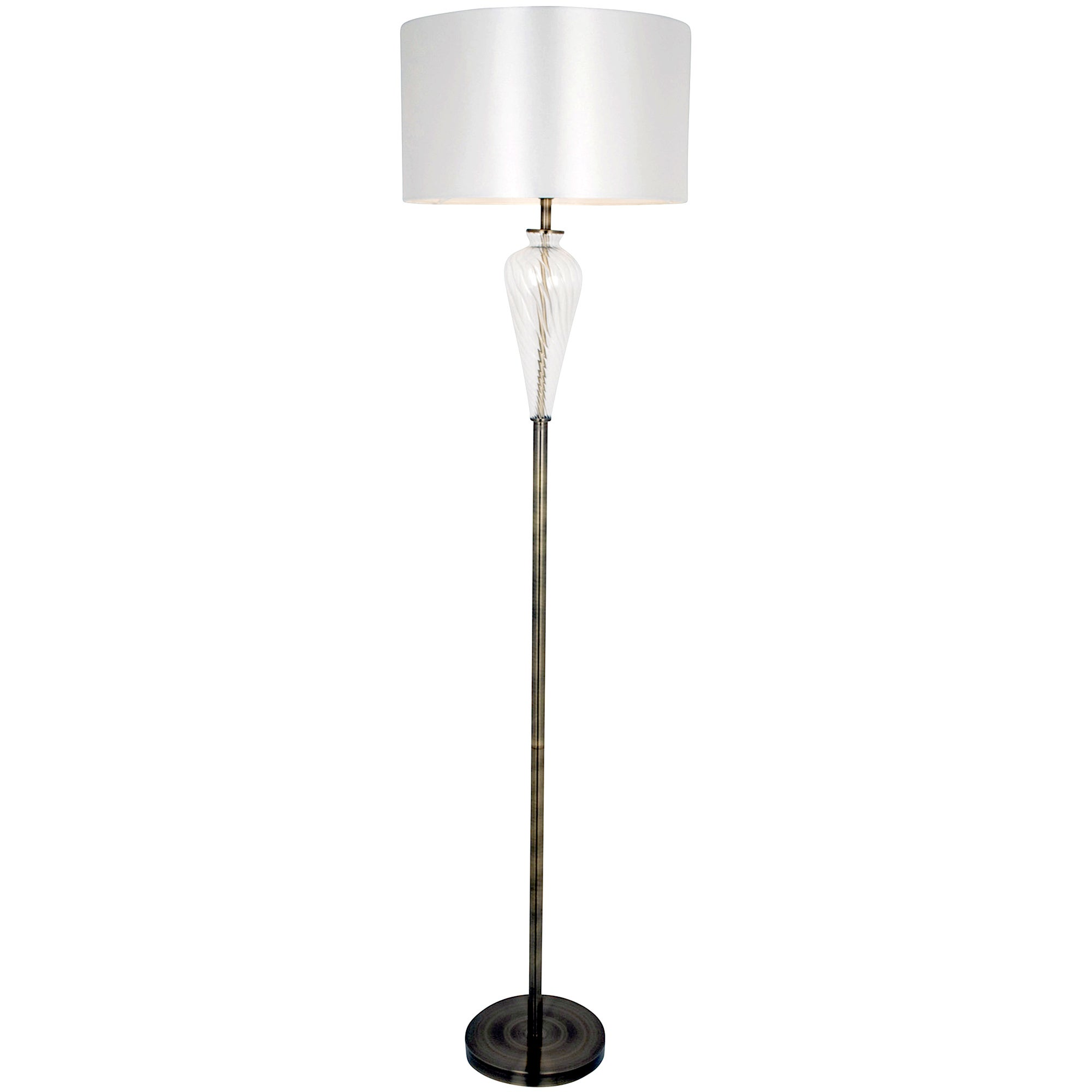 Hotel Antique Brass Glass Floor Lamp