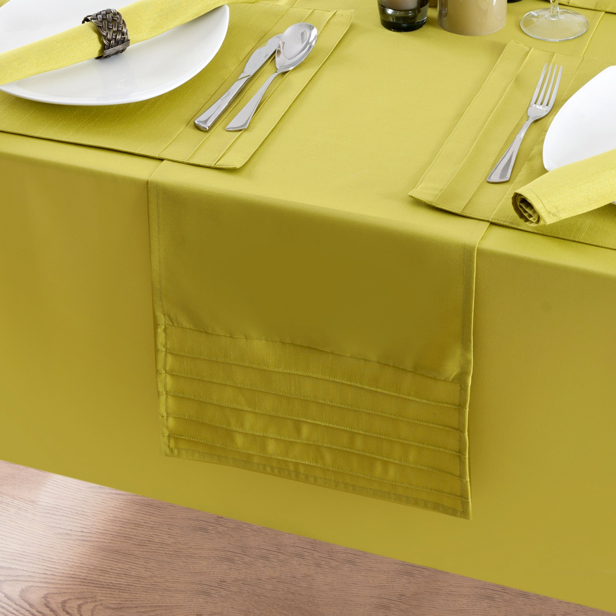 Lime Spectrum Table Runner