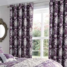 Plum Adriana Thermal Eyelet Curtains