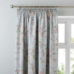 Duck Egg Bethany Thermal Pencil Pleat Curtains