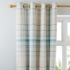 Duck Egg Check Thermal Eyelet Curtains