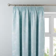 Duck Egg Eden Thermal Pencil Pleat Curtains