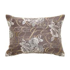 Charcoal Elegant Script Cushion
