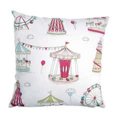 Pink Fairground Cushion Cover