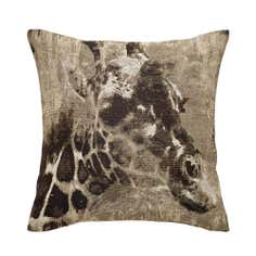 Black Giraffe Tapestry Cushion