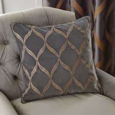 Charcoal Paris Square Cushion