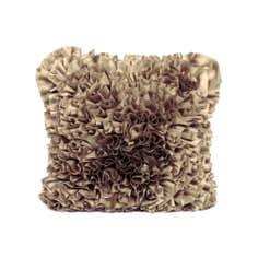 Gold Ruffles Cushion
