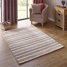 Natural Stripe Wool Rug