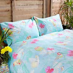 Turquoise Botanical Kitsch Duvet Cover Set