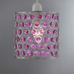 Web Acrylic Beaded Pendant Purple