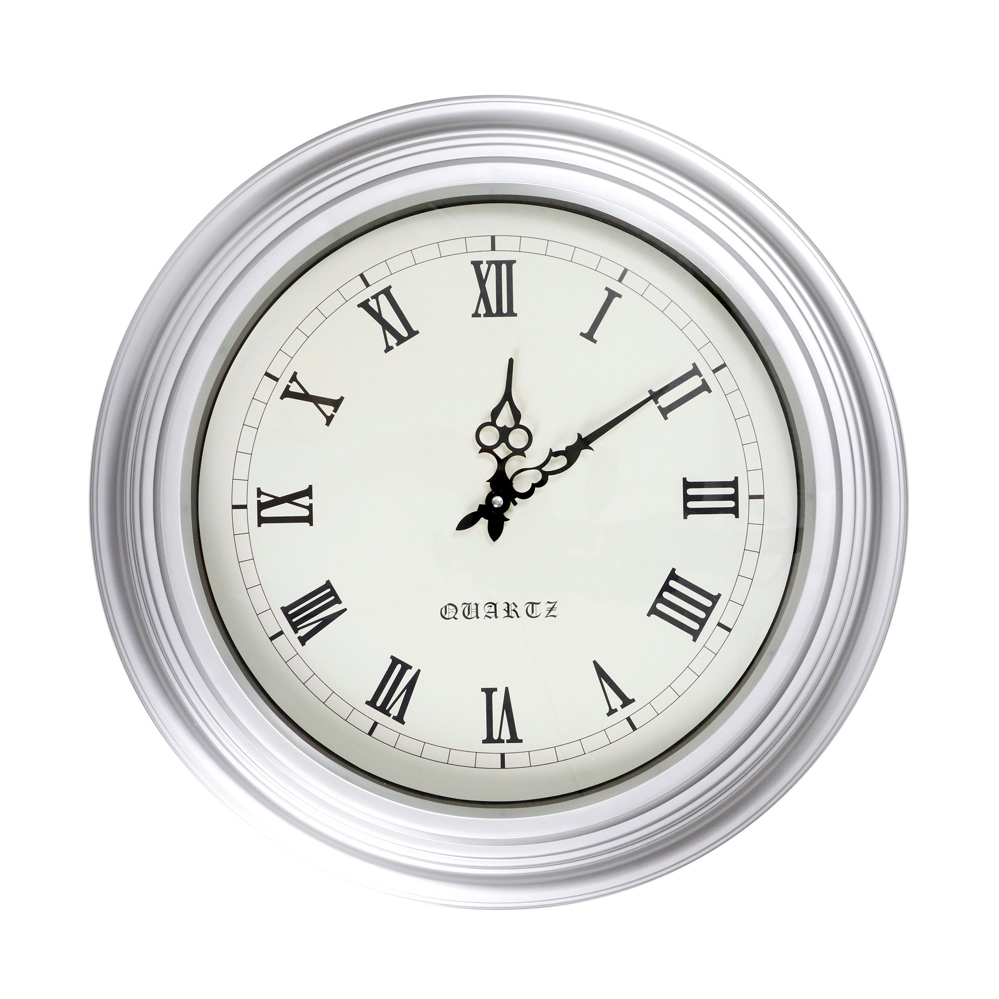 Large Chrome Oakham Wall Clock