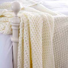 Ivory Chunky Knit Throw