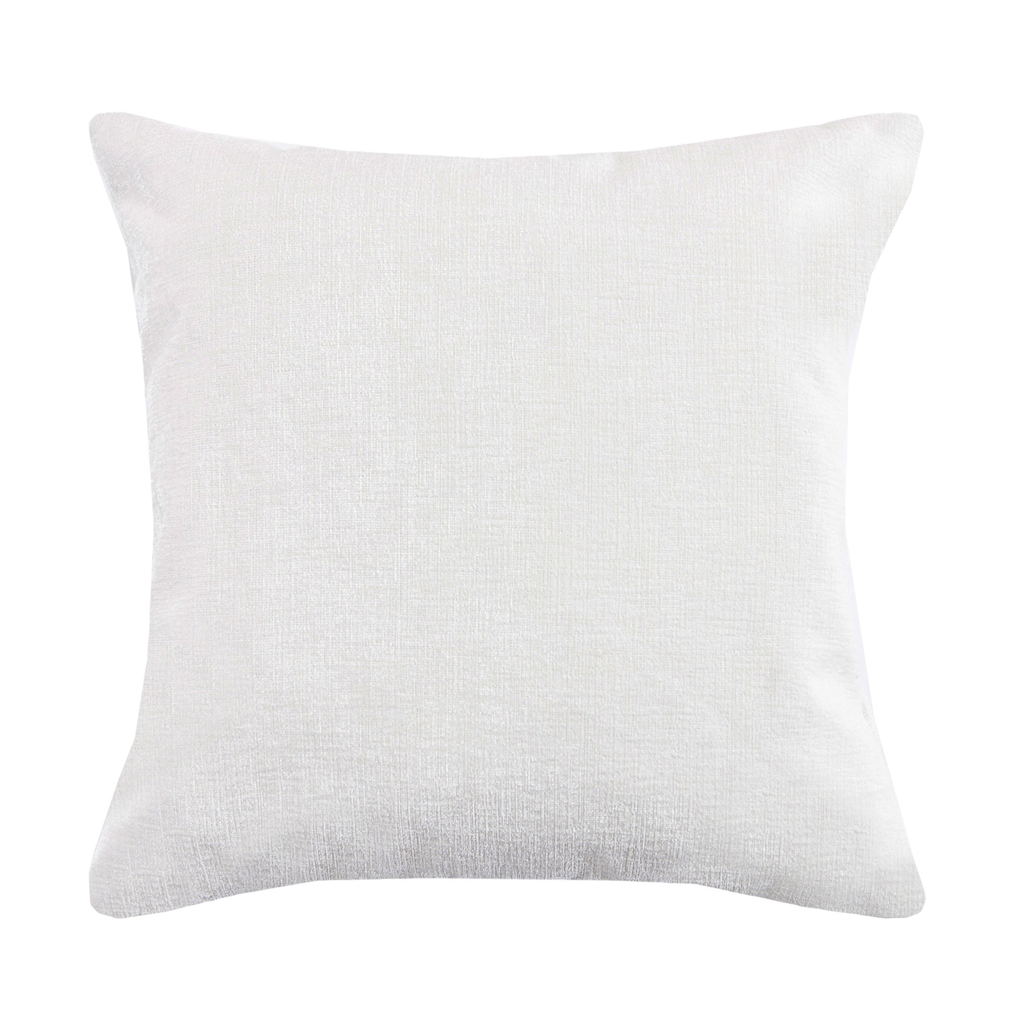 Ivory Chenille Cushion