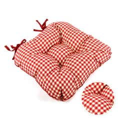 Red Gingham Collection Check Seat Pad