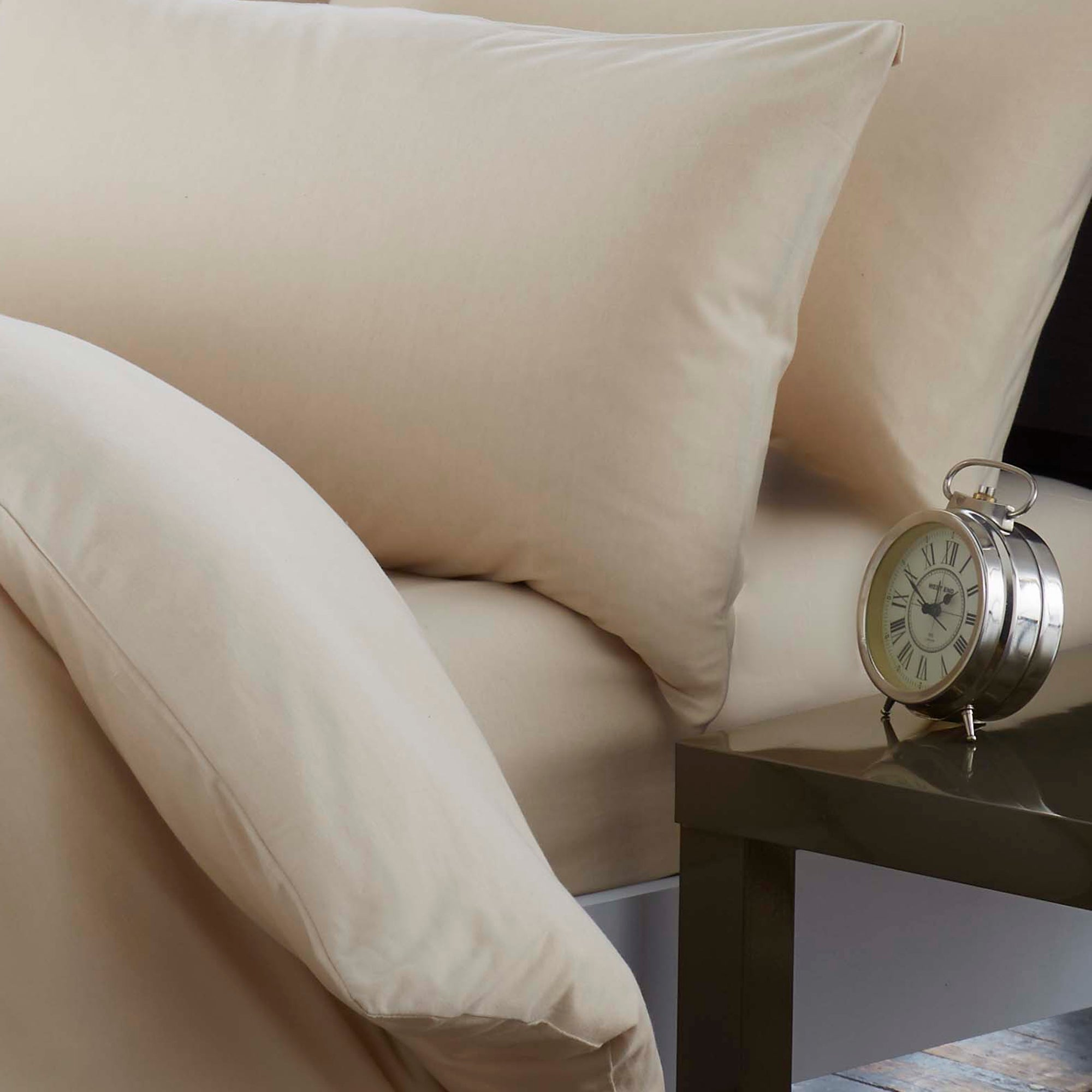 Cream Jersey Marl Collection Fitted Sheet