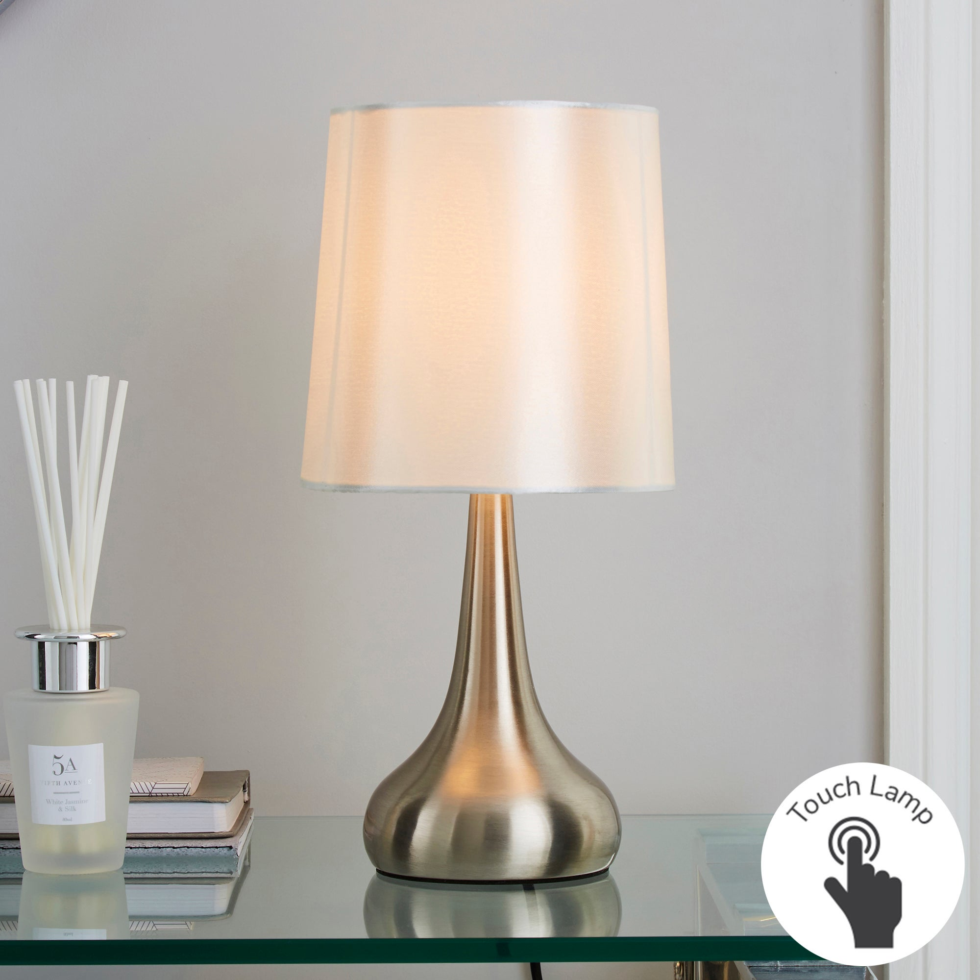 2 touch lamps for 10 buy 2 for 20 at argos hotukdeals for Bedside table lamp shades
