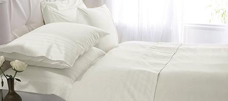 Cream Hotel Pima Plain 400 Thread Count Bedlinen Collection
