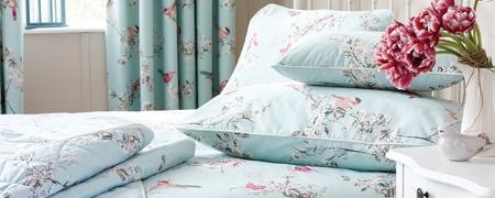 Duck Egg Beautiful Birds Bedlinen Collection