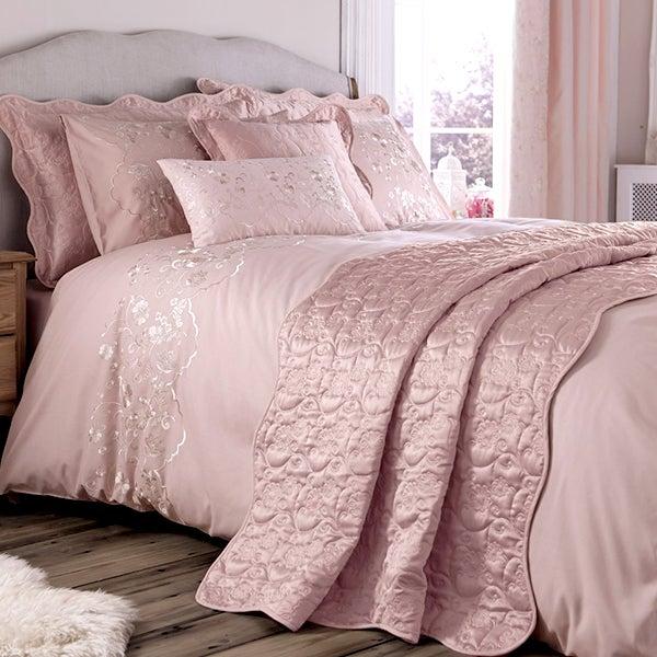 Dusky Pink Florentine Bedlinen Collection