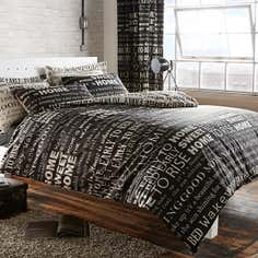 Black Good Morning Bedlinen Collection