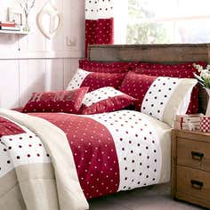 Red Country Spot Bedlinen Collection