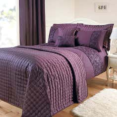 Aubergine Eliza Sparkle Bedlinen Collection