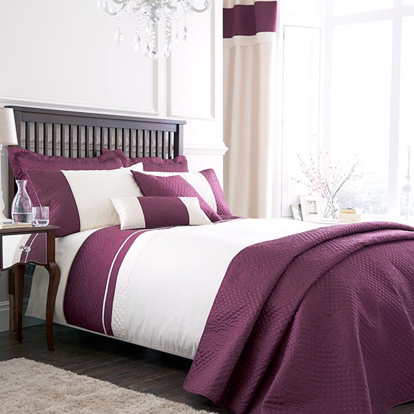 Plum Rimini Bedlinen Collection