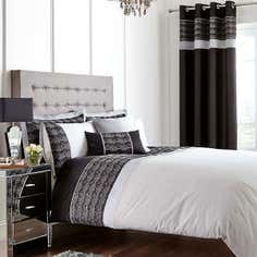 Black Gatsby Bed Linen Collection