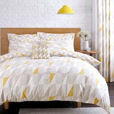 Yellow Skandi Geo Bed Linen Collection
