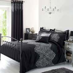 Black Valencia Bed Linen Collection
