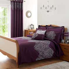 Plum Valencia Bed Linen Collection